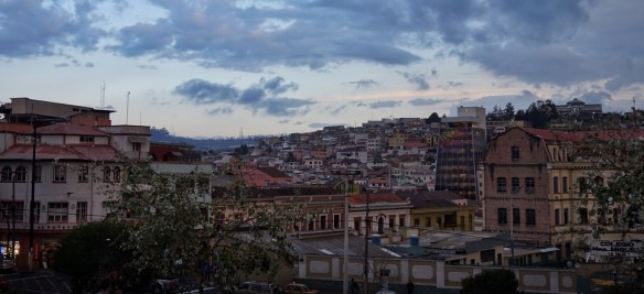 Traveling around the world Quito Ecuador Twilight