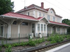 the old train station (Huopalahden rautatieasema). thanks to Wikipedia for the photo.