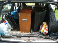 a lot of gear for what could be just a little acoustic concert (if there were a real piano)