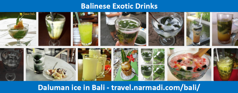 Daluman ice - Balinese local Drinks
