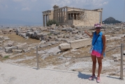 <h5>The Erechtheion - Ερέχθειον</h5><p>This is the home of the six Karyatides, the beautiful Ladies that gave soul to the supporting columns of the monument. </p>