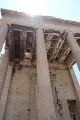 <h5>Erechtheion, back side</h5><p>The ceiling was made of decorated, large marble square tiles.</p>