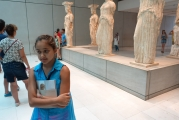 """<h5>Akropolis Museum, The Karyatides</h5><p>""""Where is the 6th one?""""</p>"""
