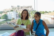 <h5>Akropolis Museum</h5><p>Eleni explaining and teaching.</p>