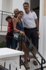 <h5>Outside Fotis' home</h5>