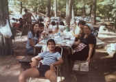 <h5>Late 70's, pick-nick at Troodos mountains</h5><p>For some reason I am missing from this photo. Perhaps, I was the photographer.</p>