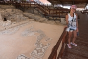 <h5>Paress was impressed with the floor mosaics!</h5>