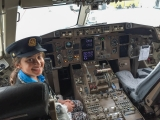 <h5>Paress on the pilot`s seat, upon our arrival to Toronto Pearson International</h5>
