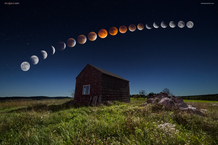 Supermoon Blood Moon Maine By Mike Taylor