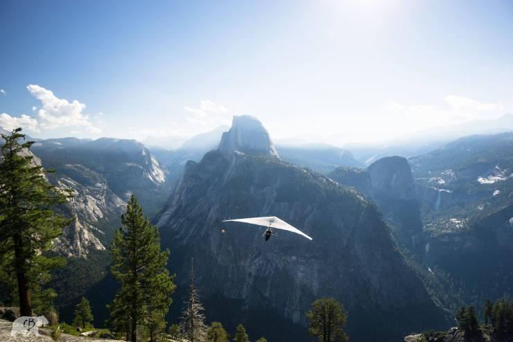 Chris Burkard Yosemite Hanglider Half Dome
