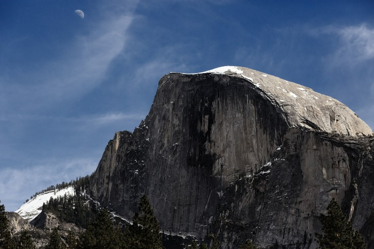 Half Dome Yosemite Moonrise