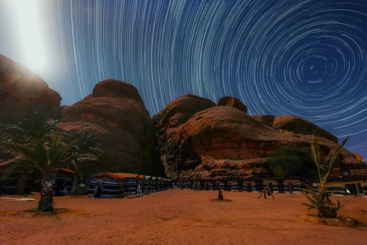 Wadi Rum Jordan Captains Camp Star Trails Michael Bonocore
