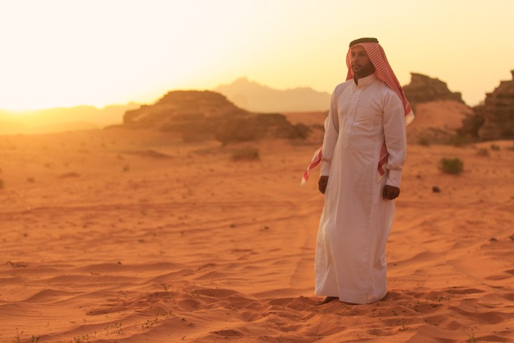 Wadi Rum Jordan Sunset Portrait Michael Bonocore