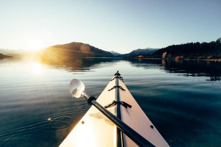 Kayak Lake Wanaka New Zealand 6