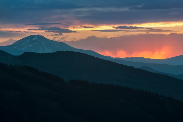 Sopris Colorado Sunset Mark Gvazdinskas