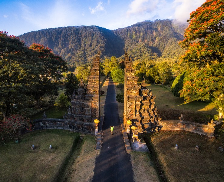 Indonesia Bali drone photo of gate by Michael Matti