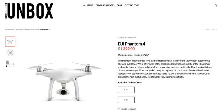 DJI Phantom 4 Resource Unbox