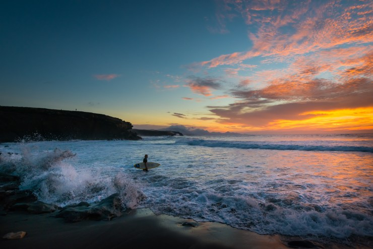 Surfing La Pared Fuerteventura in the Caneray islands Spain. Photo by Edin Chavez.