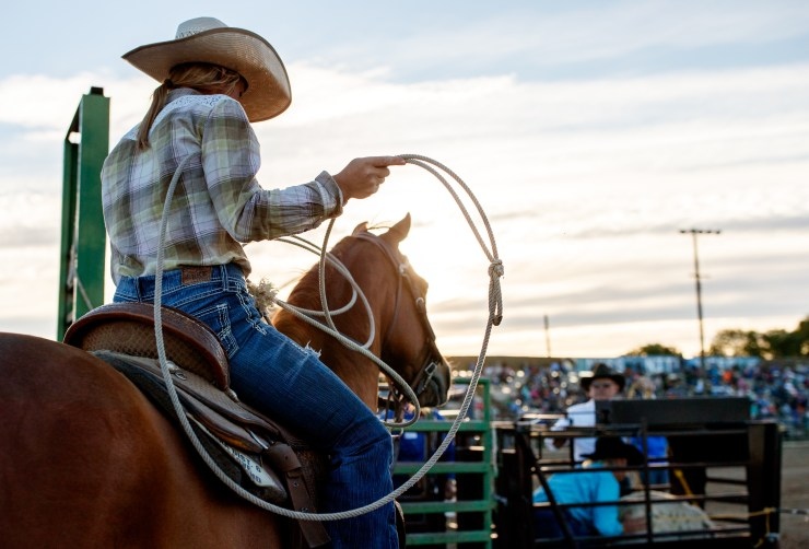 Photograph taken at the Nyssa Nite Rodeo, Nyssa Oregon, June 18th 2016. Photo by Carey Rose