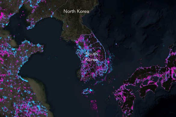 Nighttime Map Shows the Dramatic Changing of Earth's Lights