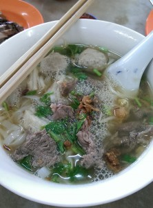 Everything with beef, beef ball, beef soup. It was found a restaurant beside New Lane road.