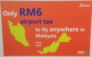 KLIA2 Airport Tax