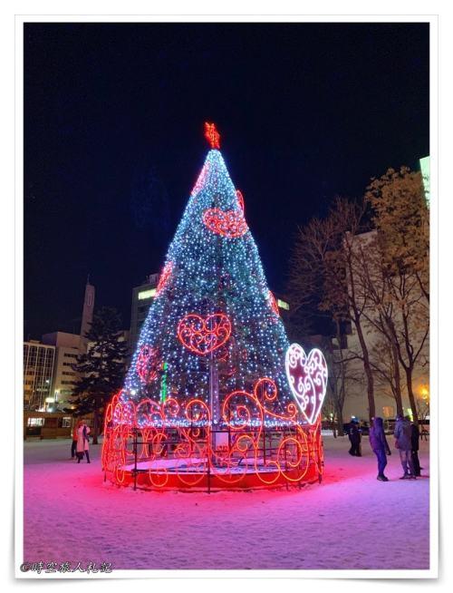大通公園的聖誕燈樹
