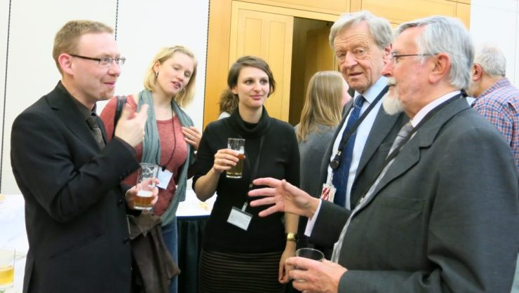 Richard with former MP and fellow delegate, John Austin, Lord Alf Dubs, Stephanie Hunt and Megan Cleaver