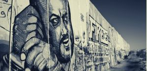 Barghouti mural on the Israeli wall