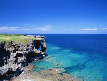 Cape Manza, a popular diving spot, Okinawa, Japan.