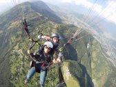 Paragliding from Sarangkot, Pokhara which is at the height of 1592m. It is a wonderful experience as you are in a crazy height with the view of the whole city, beautiful mountains and hills.