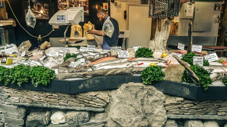Fresh fish at Borough Market, London
