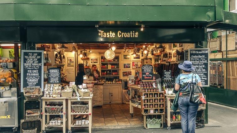 Croatian food store at Borough Market, London