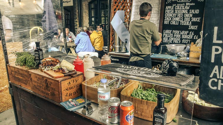 International food at Camden Market, London