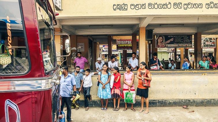 Bus stop on the way from Mirissa to Udawalawe, Sri Lanka
