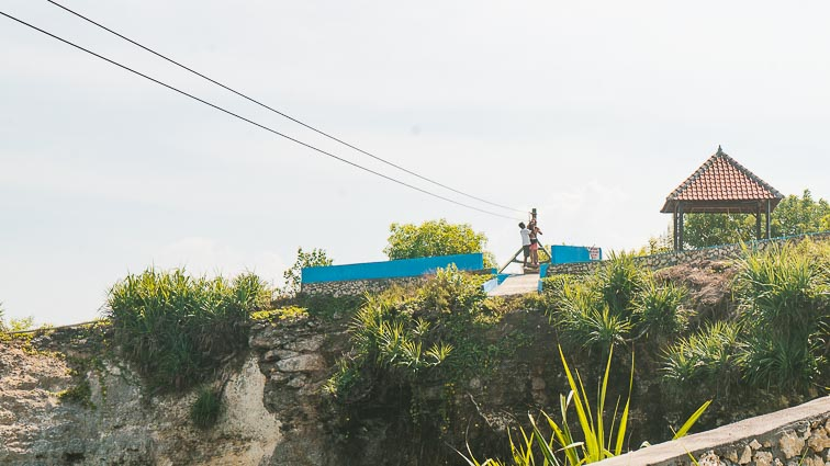 Nusa Lembongan and Nusa Ceningan. Ziplining on Nusa Ceningan