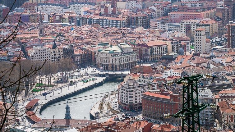 Bilbao from the Artxanda funicular viewpoint