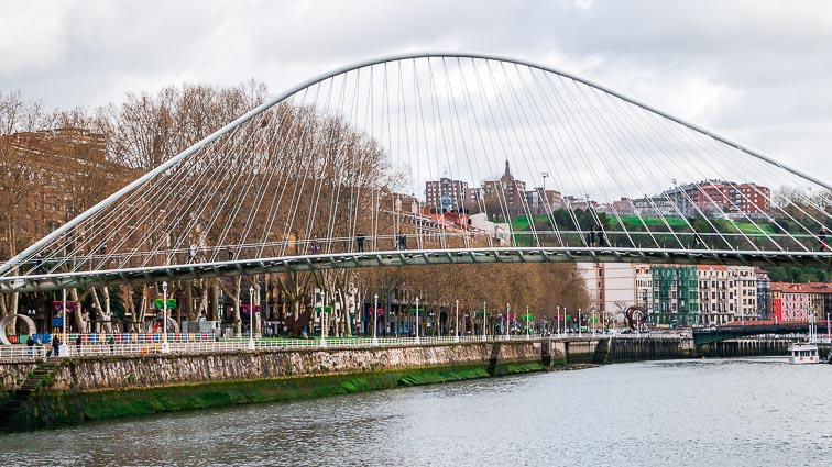 Zubizuri bridge in Bilbao
