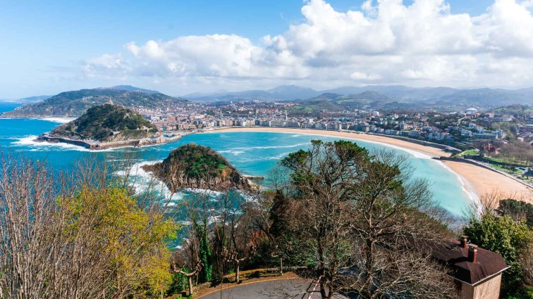 Viewpoint from Monte Igueldo in San Sebastián
