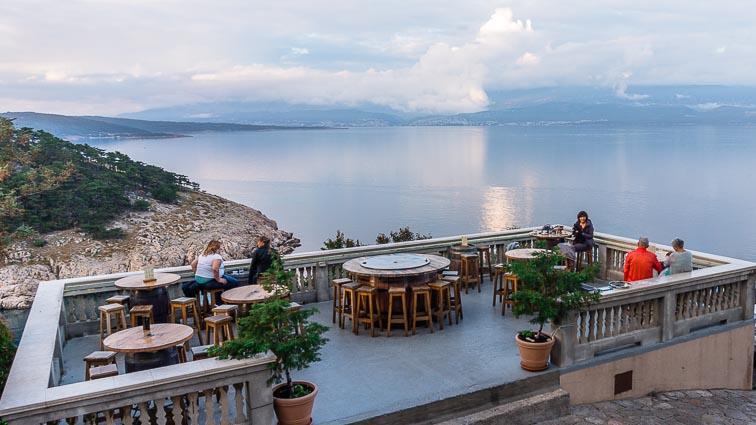 Konoba Nada, a bar with a terrace overlooking Croatia's mainland