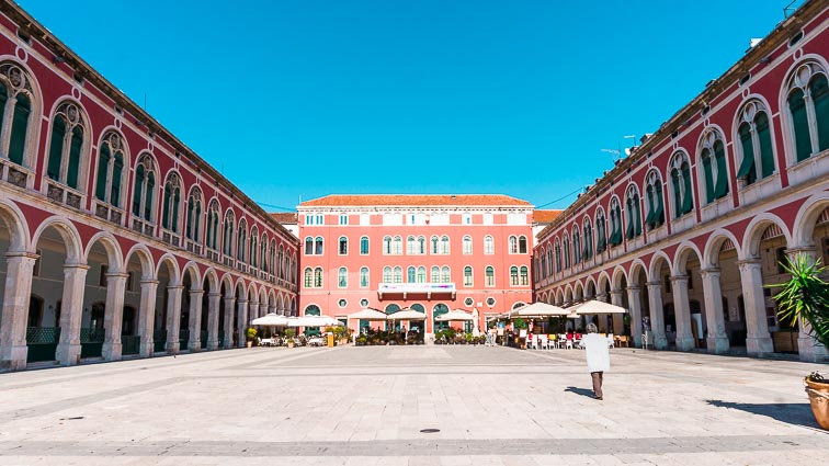 Trg Republike, or Republican Square in Split