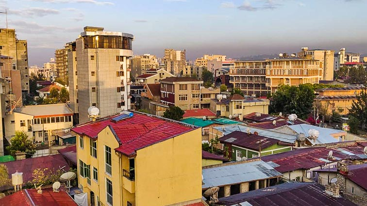 City view in Ethiopia