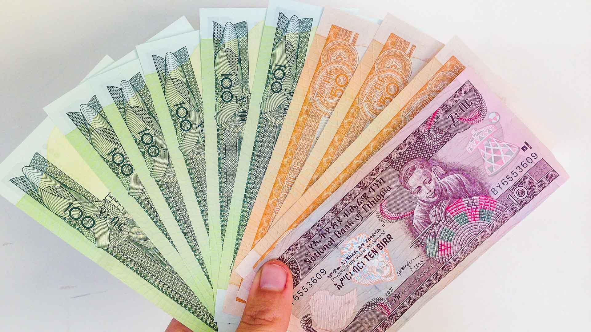 Ethiopian Birr banknotes