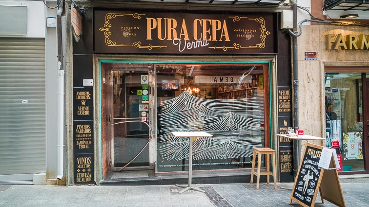 Pura Cepa Vermú, a lovely little restaurant in Teruel