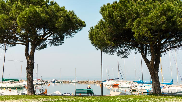 Pacengo's harbour. Things to do around Lake Garda
