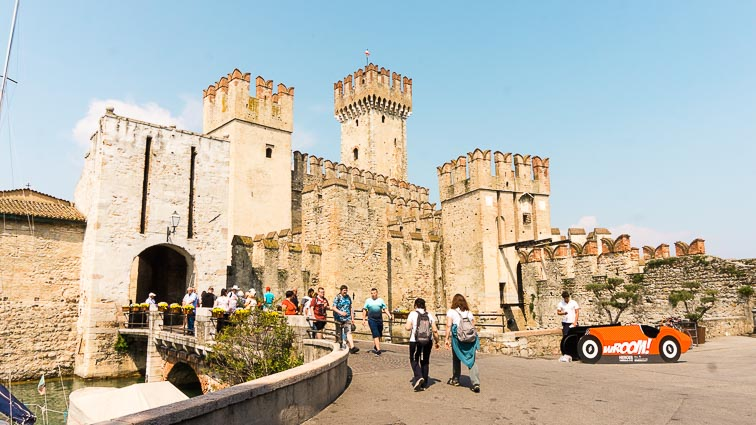 The medieval gate of Sirmione