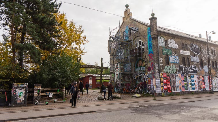 One of the entries to Freetown Christiania