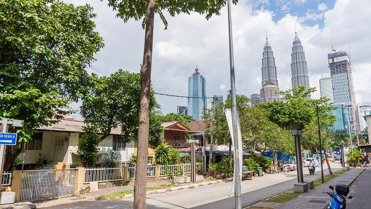 Petronas Towers seen from Kampung Baru. Things to do in Malaysia