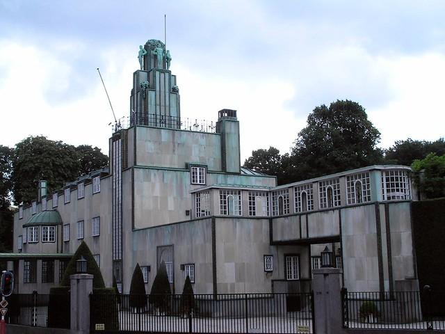 square, grey mansion