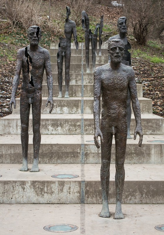 statues on stairs